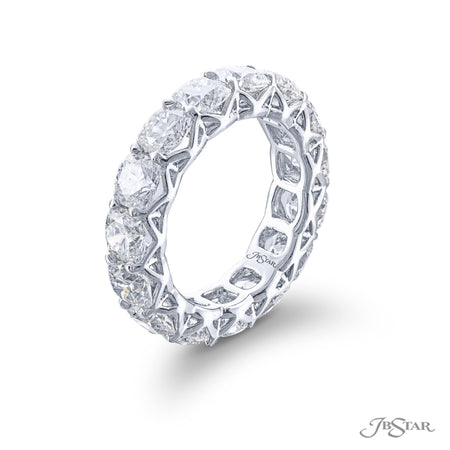 2397-001 | Diamond Eternity Band Cushion-Cut Shared Prong Setting Side View