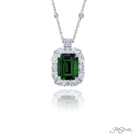 2467-003 | Emerald & Diamond Pendant 4.84 ct. GIA Emerald