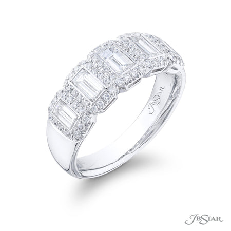 2542-004 | Diamond Wedding Band Straight Baguette Bezel Set Micro Pave Side View