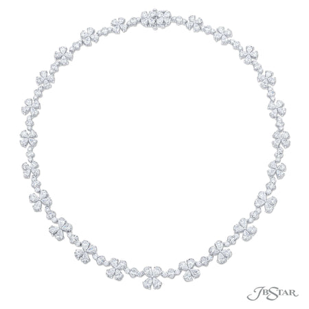 Floral Diamond Necklace Pear-Shaped & Oval 21.76 ctw.
