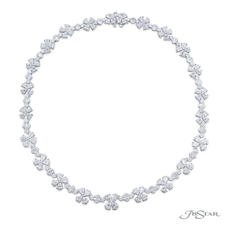 3675-005 | Floral Diamond Necklace 31.04 ctw. Pear-Shaped & Oval