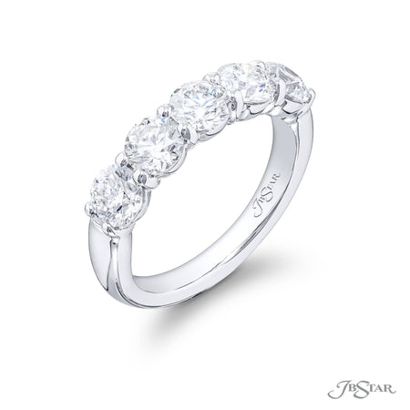 4069-021 | Diamond Wedding Band Round 2.04 ctw. Shared Prong Setting Side View