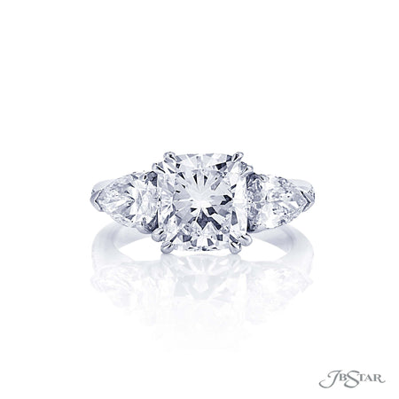 3.01 ct Platinum Cushion Cut Diamond Engagement Ring