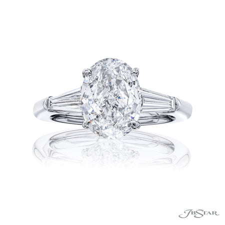 4398-158 | Diamond Engagement Ring 2.50 ct GIA Certified Color G & SI1 Front View