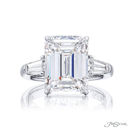 4398-167 | Diamond Engagement Ring 7.48 ct. GIA Certified Emerald-Cut Side View