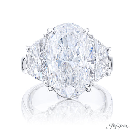 4664-256 | Oval Diamond Engagement Ring 8.02 ct Certified Front View