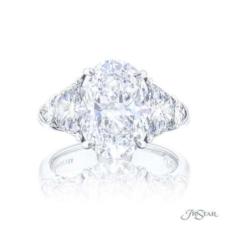 4912-136 | Diamond Engagement Ring 3.00 ct. Oval Cut GIA certified Front View
