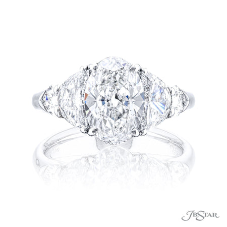 4912-164 | Diamond Engagement Ring 3.08 ct. Oval Cut GIA certified Front View