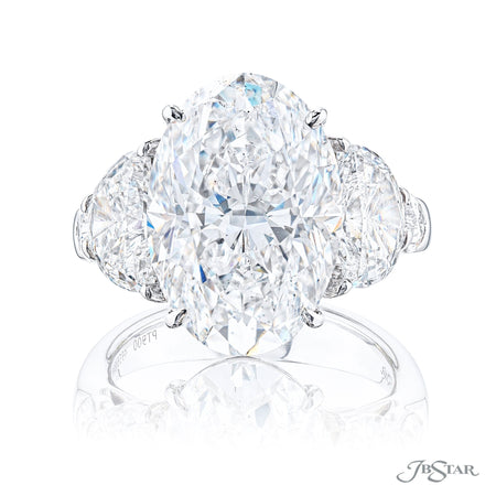 4958-022 | Diamond Engagement Ring 9.05 ct. Oval GIA Certified Front View