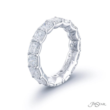 4987-001 | Diamond Eternity Band Radiant-Cut 5.40 ctw. Shared Prong Side View