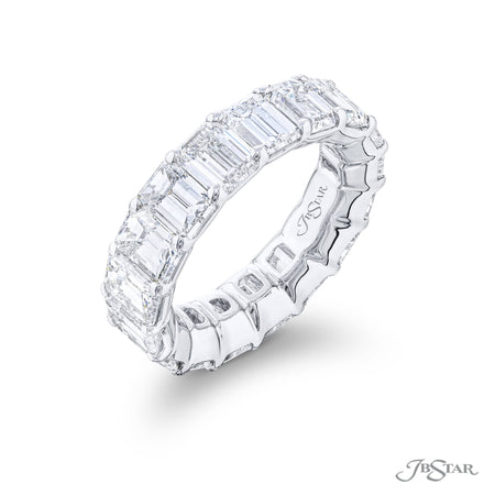 5006-007 | Diamond Eternity Band Emerald Cut 8.50 ctw. Side View