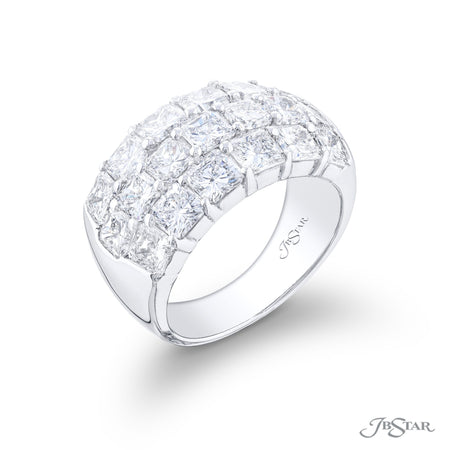 5026-003 | Diamond Wedding Band Radiant Cut 4.90 ctw. Shared Prong Side View