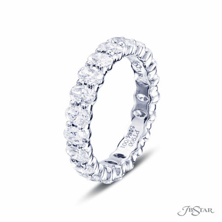 Oval Diamond Eternity Band in Platinum | 5064-001 Side view