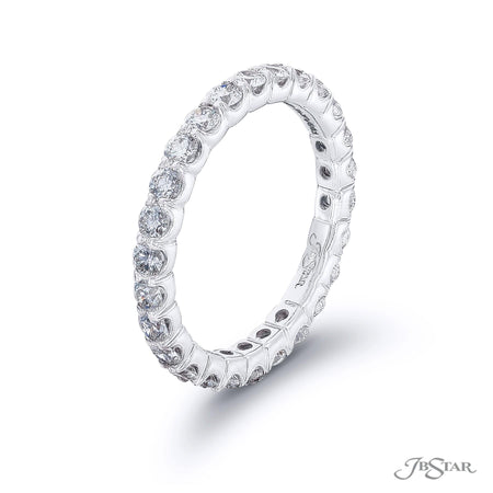 Eternity Bands, 26 Round Diamonds Platinum Prong Ring Setting 5084-041 side view