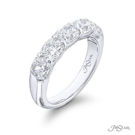 5094-014 | Diamond Wedding Band 3.32 ctw. Cushion Cut Shared Prong Side View