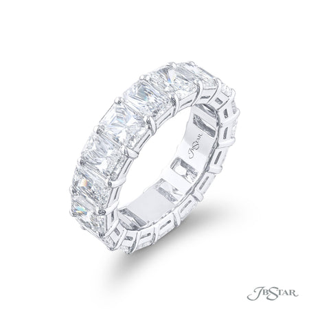 5102-010 | Diamond Eternity Band Radiant-Cut 8.27 ctw. Shared Prong Side View