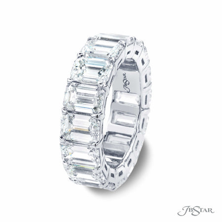 11.21 ctw Emerald Cut Diamond Eternity Band in Platinum | 5122-001 Side view