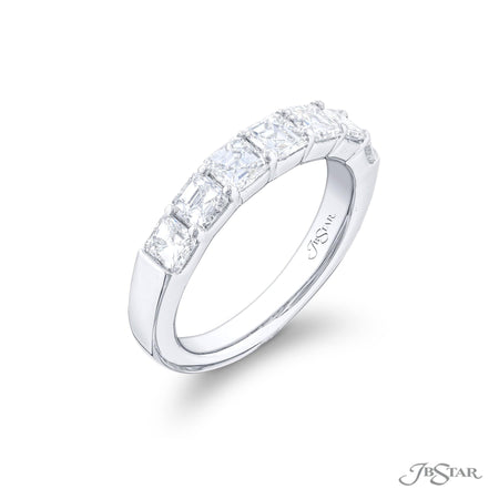 5131-005 | Diamond Wedding Band Square Emerald Cut 1.54 ctw. Side View