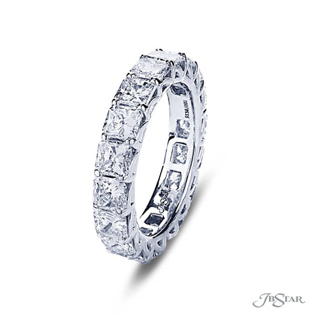 5.04 ctw. Radiant Cut Diamond Eternity Ring in Platinum | 5138-002  Side View