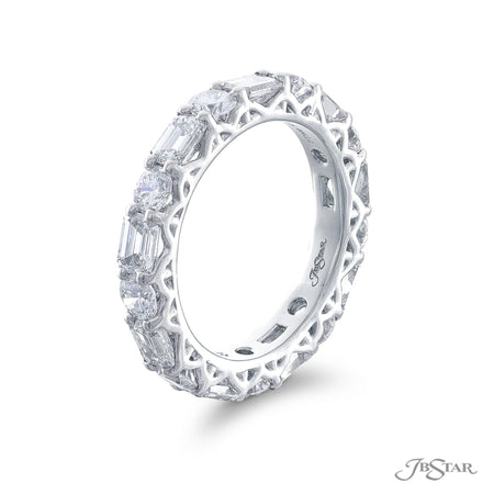 5143-001 | Diamond Eternity Ring Round & Emerald Cut 2.90 ctw. Side View