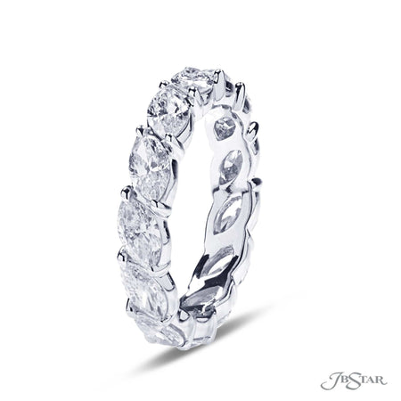 Angle Set Marquise Diamond Eternity Ring in Platinum | 5147-002 | Side View