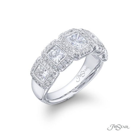 5155-006 | Diamond Band Radiant-Cut Micro Pave & Bezel Set 2.51 ctw. Side View