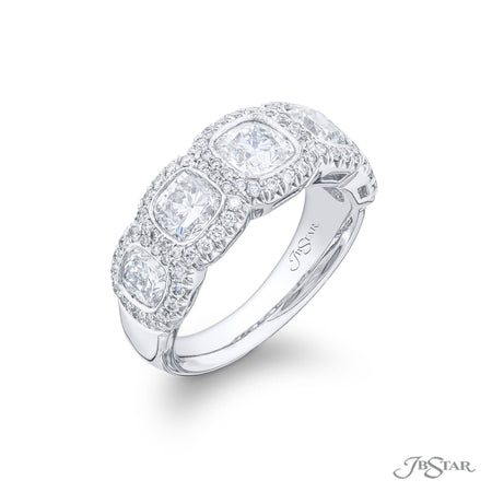 5156-001 | Diamond Wedding Band Cushion-Cut 2.57 ctw. Micro Pave Side View