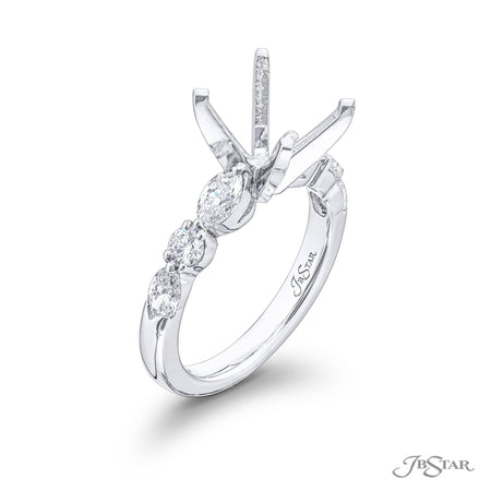 5162-005 | Diamond Semi Mount 0.81 ctw. Marquise & Round Shared Prong Side View