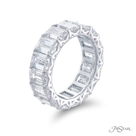 5177-002 | Diamond Eternity Band Emerald-cut 11.20 ctw. Shared Prong Side View