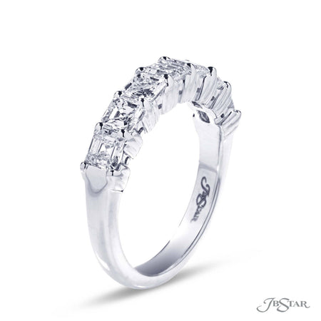 Gorgeous diamond wedding band featuring 7 perfectly matched radiant cut diamonds in a shared prong setting. Handcrafted in platinum. [details] Stone Information SHAPE TYPE WEIGHT Radiant Diamond 1.72 ctw. [enddetails] | JB Star 5218-001 Anniversary & Wedding