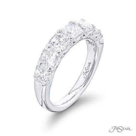 5219-002 | Diamond Wedding Band Radiant Cut 2.58 ctw. Shared Prong Side View