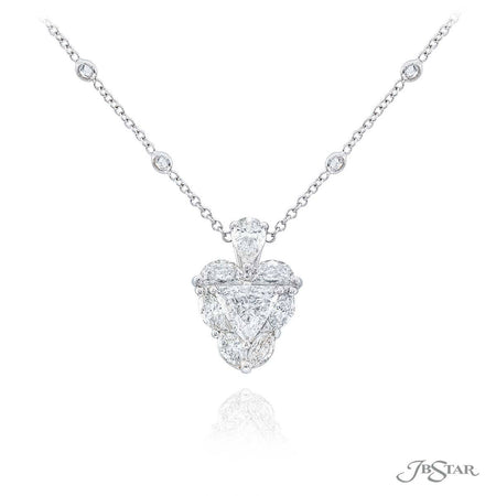 5223-001 | Diamond Pendant Trillion, Half-Moon & Marquise Cut 1.27 ct.