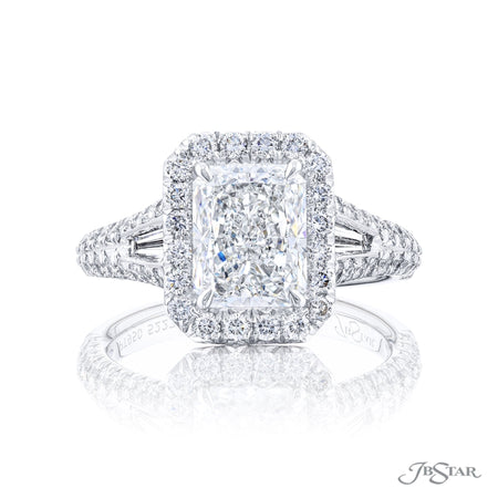 5227-010 | Diamond Engagement Ring 2.32 ct. GIA certified Radiant Cut Front View