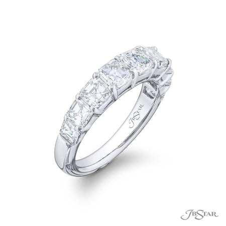 5247-002 | Diamond Wedding Band Square Emerald-Cut 2.84 ctw. Side View