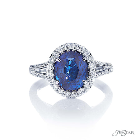 Dazzling sapphire and diamond ring featuring a 3.66 ct. GIA certified