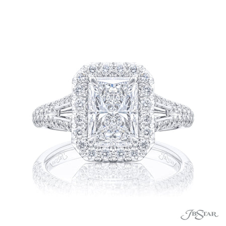 5250-071 | Diamond Engagement Ring 1.60 ct. GIA certified Radiant Cut Front View