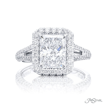 5250-072 | Diamond Engagement Ring 191 ct. GIA certified Radiant Cut Front View
