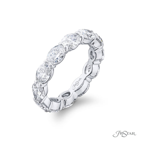 Diamond Eternity Band Oval 3.80 ctw. Shared Prong Setting Side View