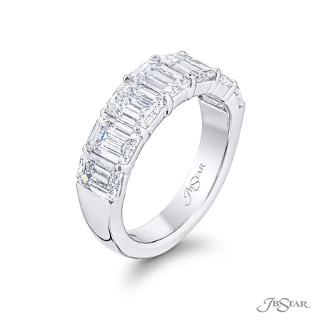 5309-004 | Diamond Wedding Band Emerald Cut 4.00 ctw. Shared Prong Side View