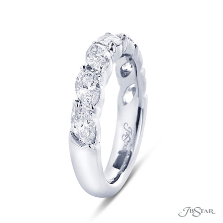 Dazzling diamond wedding band featuring 7 marquise diamonds in our east to west design. Handcrafted in pure platinum. [details] Stone Information SHAPE TYPE WEIGHT Marquise Diamond 1.32 ctw. [enddetails] | JB Star 5318-002 Anniversary & Wedding