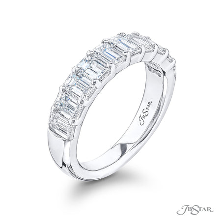 5330-013 | Diamond Wedding Band Emerald Cut 2.30 ctw. Shared Prong Side View