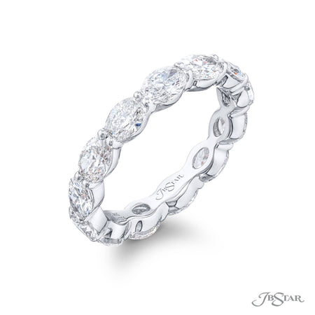 5335-004 | Diamond Eternity Band Oval 3.26 ctw. Shared Prong Setting Side View