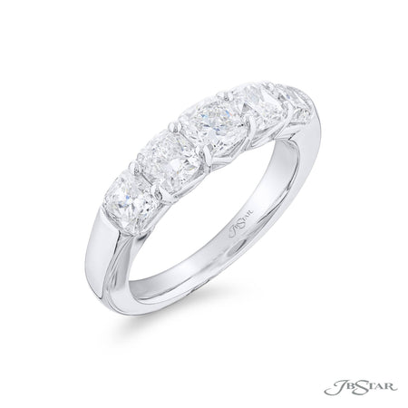 5358-005 | Diamond Wedding Band Cushion-Cut 2.52 ctw. Shared Prong Side View
