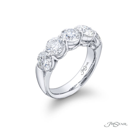 5363-001 | Diamond Wedding Band 2.53 ctw. Round Shared Prong Setting Side View