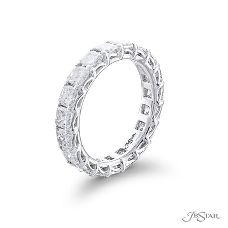 5379-001 | Diamond Eternity Band Radiant-Cut 3.66 ctw. Shared Prong Side View