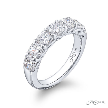 5393-006 | Diamond Wedding Band Cushion-Cut 2.90 Shared Prong Setting Side View