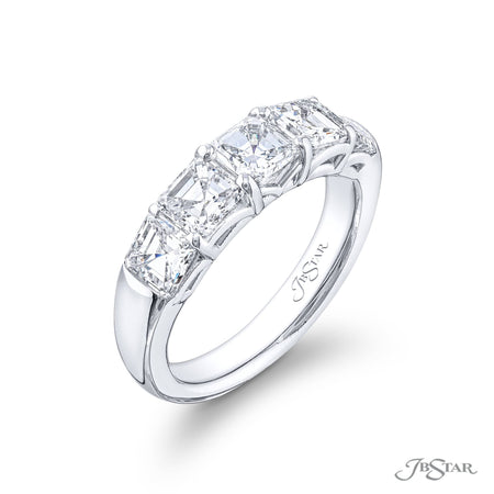 5408-014 | Diamond Wedding Band Square Emerald Cut 2.76 ctw Side View