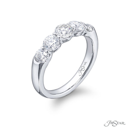 5410-001 | Diamond Wedding Band Round 1.54 ctw. Shared Prong Setting Side View