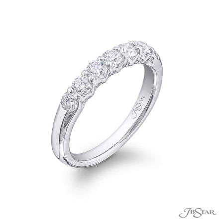 5419-001 | Diamond Wedding Band Round 1.12 ctw. Shared Prong Setting Side View