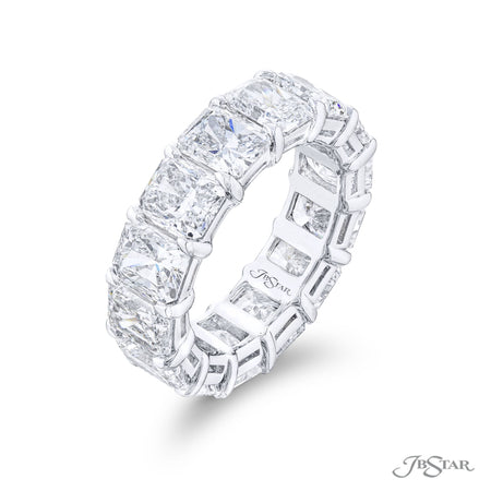 5423-001 | Diamond Eternity Band Radiant-Cut 10.39 ctw. GIA Certified Side View